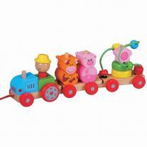 Lelin toys Дидактически трактор за дърпане