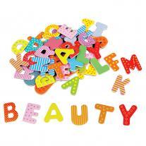 Lelin toys Дъвени магнити, Английска азбука, главни букви