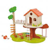 Lelin toys Детска дървена къща на дърво