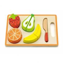3toysm Дървен комплект плодове и зеленчуци