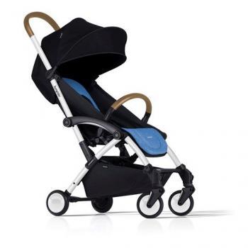 Bumprider Connect детска количка -черна рамка / синя седалка