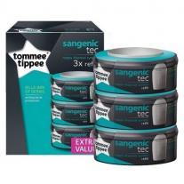 Tommee Tippee Комплект от 3 касети за хигиенен кош Tech