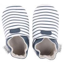 Bobux: Stripes White and Navy
