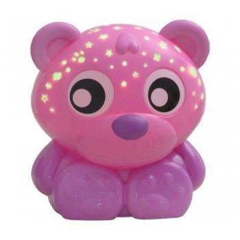"Playgro Проектор и нощна лампа Мече ""Лека нощ"" розово"