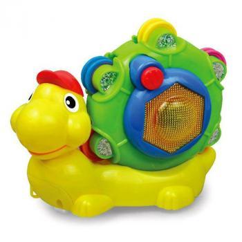 Бебешка музикална играчка Moni Охлювче
