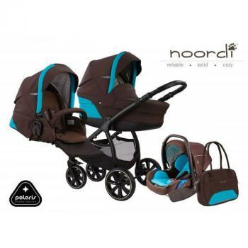 Noordi Polaris бебешка количка 3в1 651 кафяво/синьо
