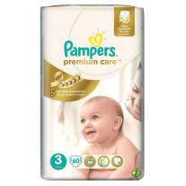 Pampers Premium Care 3 Среден Value Pack, 60 броя