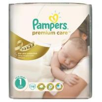 Pampers Premium Care 1 Value Pack Новородени, 78 броя