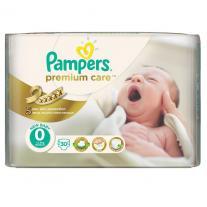 Pampers Premium Care Newborn Born Carry Pack 30 броя -за бебета под 2,5 кг.