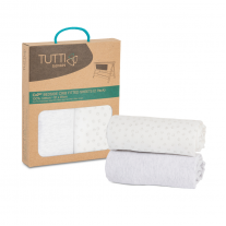Tutti Bambini комплект от 2 броя чаршафи за легло CoZee® - Grey and Cloud