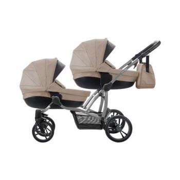 BEBETTO Бебешка количка за близнаци 42 цвят 01 - рама Графит