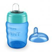 AVENT Чаша за лесен преход без дръжки 9м+, 260мл, синя