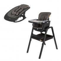 Tutti Bambini стол за хранене и шезлонг Nova Set- Black