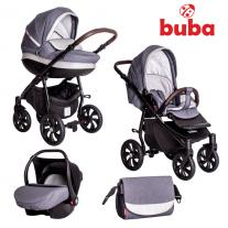 Buba Бебешка количка Estilo 930, 3 в 1, Тъмносива