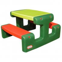 Little Tikes голяма маса за пикник жълто и зелено