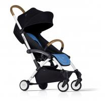 Bumprider Connect детска количка -бяла рамка / синя седалка
