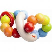 Haba - Дървена бебешка дрънкалка - Цветни ивици