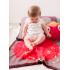 Bizzy Growin Бебешко памучно одеяло 75x100 - Olive Ostrich