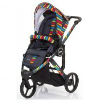 ABC Design Бебешка количка Cobra Plus Rainbow