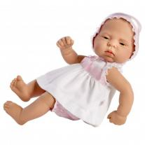 Asi dolls Кукла бебе, Лучия, с бяла рокличка, 42 см