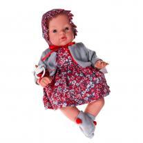 Asi dolls Кукла бебе, Коке с рокля и шапка на цветя, 36 см