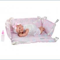 Asi dolls Кукла бебе, Оли в розово кошче, 30 см
