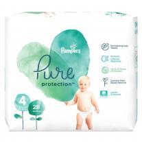 Pampers Pure Детски органични пелени no4 10-17kg 28 бр.